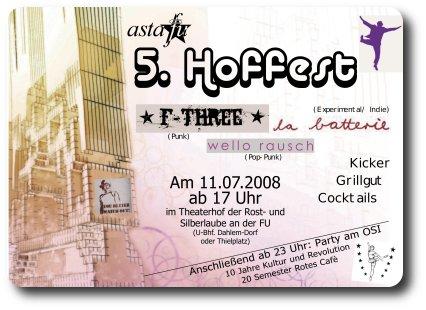 Hoffest-Flyer